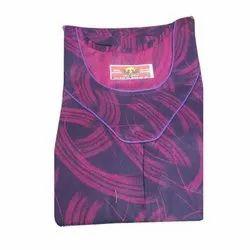 Maha Kesari Full Length Round Neck Printed Nightgown