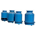 Blue Cooling Tower