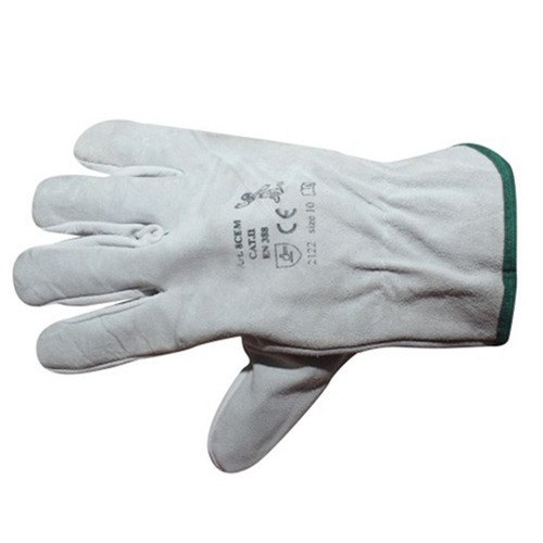CE Split Chrome Leather Gloves Driving Gloves
