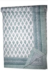 Hand Block Print Bed Sheet, Size: 90 X 108 inch