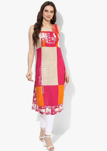 ae2a1dfc72e Women Kurtas And Kurtis - Aks Green Printed Anarkali Manufacturer from  Mumbai