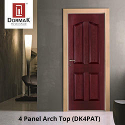 DK-4PAT 4 Panel Arch Top Decorative Moulded Wooden Door