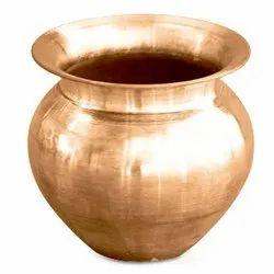 Golden Copper Lota, For Worship