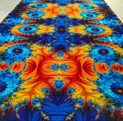 Non Woven Felt Rectangular Printed Tent Carpet