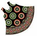 African Dashiki Rayon Umbrella Sundress