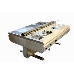 Stainless Steel Island Cooking Battery
