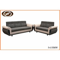 Brown and Grey Three Plus Two BMW Wooden Sofa, For Hotel, Hall
