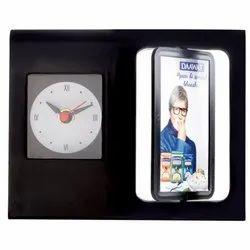 Promotional Table Clocks Cum Pen Stand