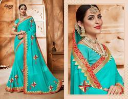Saroj Pratigya Series 81001-81006 Stylish Party Wear Georgette Saree