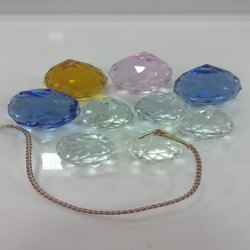 Crystal Glass Hanging Diamond Cutting Ball