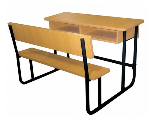 Yaksh the art people Iron & Particle boad School Furniture Bench Double 2, For Institutional Furniture