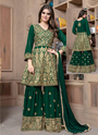 Faux Georgette Designer Sharara Suits