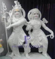 Dancing Gauri Shankar Marble Statue