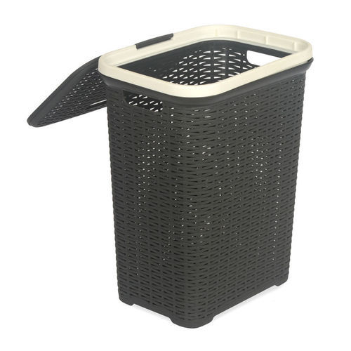 Made Form Virgin Polymer Dark Brown Charcoal Grey Nill Laundry Basket