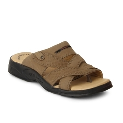 Genuine Leather Red Chief RC0593 PU Mens Rust Slip On Sandal, Size: 7 And 10