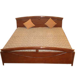 Wooden Brown Double Bed