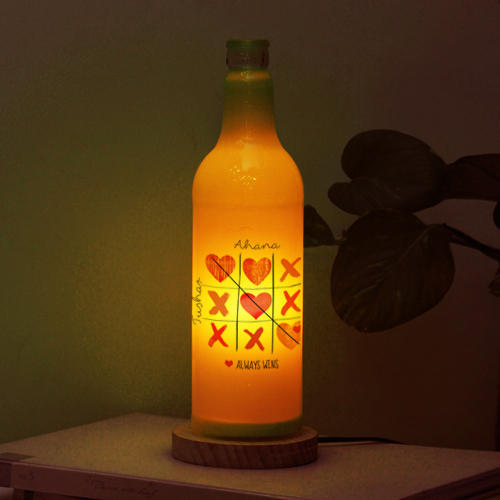 Marvelous Personalized Bottle Lamp Yellow