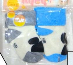 Baby Socks Woolen Type Material (Imported), Size: 0-12 Months