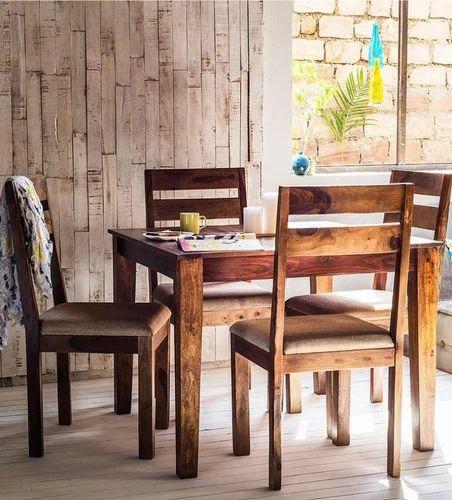 Sheesham Wooden Four Seater Dining Set