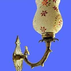 LED Glass,Brass Fancy Light Glass Wall Mounted Lamp, 15 W