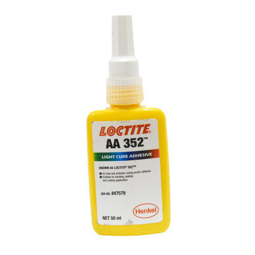 Loctite 352 Light Cure Adhesive, Packaging Type: Bottle, 50ml