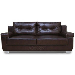 Adorn India Soleado 3 Seater Sofa (brown)