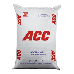 OPC (Ordinary Portland Cement) ACC Cement, Packaging Type: PP Sack Bag, Packing Size: 50 kg