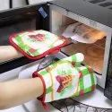 Printed Cotton Heat Resistant Oven Mitts