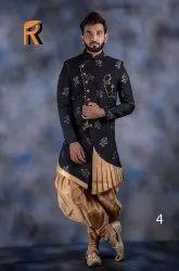 Wedding Wear Printed Men's Traditional Indowestern, Size: 34-44