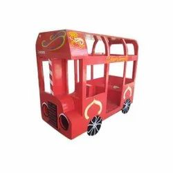 Red Wooden Toy Bus, For Amusement Park