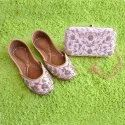 Light Pink Jutti With Matching Clutch