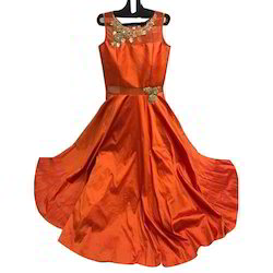 Ladies Orange Gown