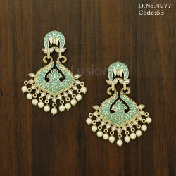 Trendy Designer Meenakari Chandbali Earrings