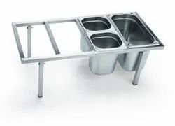 Stainless Steel GN Pan Stand Cutlery Bin Holder