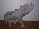 Soapstone Undercut Elephant Cutting Work Elephant