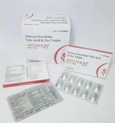 Zotafer-XT Ferrous Ascorbate, Folic Acid and Zinc Tablets