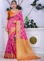 Indian Ethnic Designer Banarasi Cotton Silk Party Wear Saree