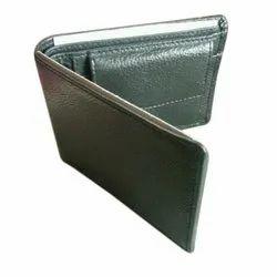 Bi Fold Mens Black Leather Wallet