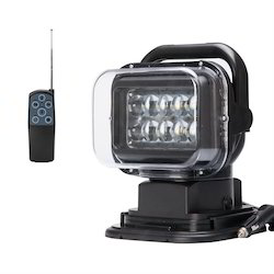 Abs FOS Revolving LED Search Light 50W (with Remote Control) - 'NO' BATTERY, Base Type: Magnetic, 50 Watt
