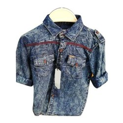 Blue Shadow Kids Boys Denim Shirt