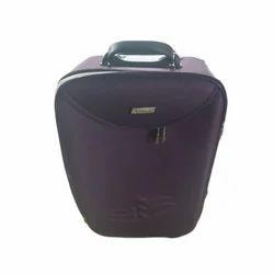 Violet Polyester Stylish Trolley Bag
