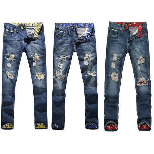 Trendy Mens Rugged Jeans