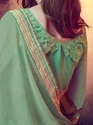 Lime Green and Georgette Saree