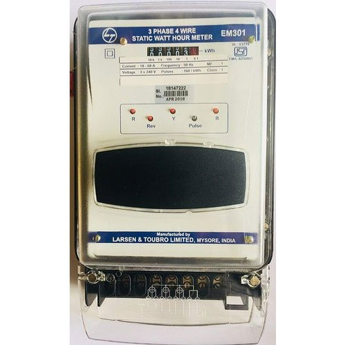 L &T Three L&T Energy Meter, Model Name/Number: Em301