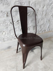 Handicraft Point Color Coated MS Tolix Chair, for Restaurant