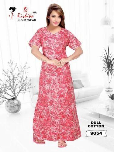 b9f306a38c Free Dull Cotton Nighty, Rs 150 /piece, Karishma Fashions | ID ...