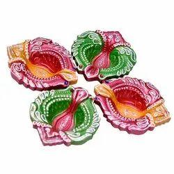 Clay Decorative Diwali Diyas, Packaging Type: Box