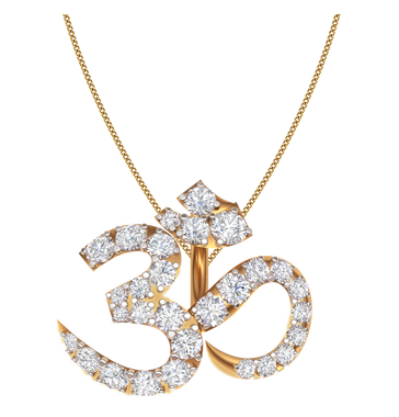 Blissful om diamond pendant heere ke pendant kirtilal kalidas blissful om diamond pendant mozeypictures Image collections
