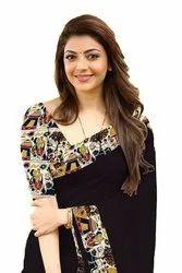 5.5 m (separate blouse piece) Border Richa Fashion World Chanderi Saree With Lace