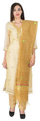 Chanderi Gota Patti Dress Material